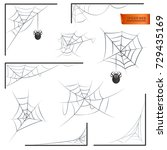 spiderweb monochrome. halloween ... | Shutterstock .eps vector #729435169