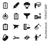 16 vector icon set   clipboard  ... | Shutterstock .eps vector #729437389