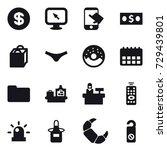 16 vector icon set   dollar ...   Shutterstock .eps vector #729439801