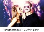 Couple Makeup Halloween Woman...