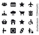 16 vector icon set   group ...