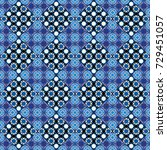 vector checkered fabric texture ... | Shutterstock .eps vector #729451057
