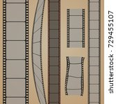 set of film strip  vector... | Shutterstock .eps vector #729455107