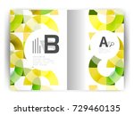 geometric a4 annual report... | Shutterstock .eps vector #729460135