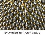 macro photography of sunflower... | Shutterstock . vector #729465079