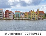 colorful buildings in... | Shutterstock . vector #729469681