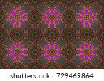 floral seamless pattern with...   Shutterstock . vector #729469864
