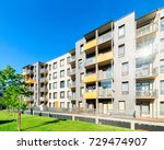 complex of new apartment... | Shutterstock . vector #729474907