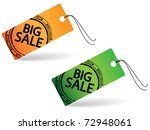 two price tag with stamp   big... | Shutterstock .eps vector #72948061