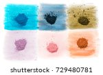 six samples of bright dry... | Shutterstock . vector #729480781