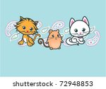 cute animals with paisley border   Shutterstock .eps vector #72948853
