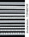 white ornamentaltion lace... | Shutterstock . vector #729488749