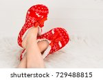 new year's  christmas slippers...   Shutterstock . vector #729488815
