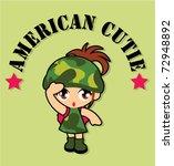 American Cutie Army Girl