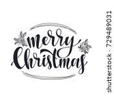 merry christmas vector text... | Shutterstock .eps vector #729489031