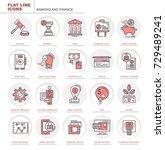 set of vector flat icons.... | Shutterstock .eps vector #729489241