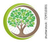 tree logo icon with the meaning ... | Shutterstock .eps vector #729510301