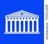 parthenon icon vector  | Shutterstock .eps vector #729511309
