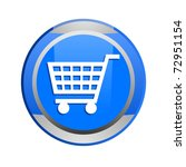 shopping cart glossy icon | Shutterstock . vector #72951154