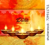 abstract happy diwali background | Shutterstock .eps vector #729511711