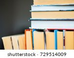many books on the shelf at... | Shutterstock . vector #729514009
