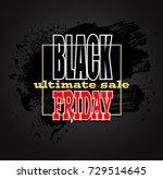 black friday sale background ... | Shutterstock . vector #729514645