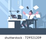 happy businessman about... | Shutterstock .eps vector #729521209