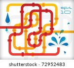 abstract pipeline background  ... | Shutterstock .eps vector #72952483