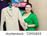 young caucasian woman holding a ... | Shutterstock . vector #72952825