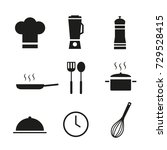 icons set. cooking | Shutterstock .eps vector #729528415