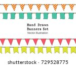 colorful hand drawn doodle... | Shutterstock .eps vector #729528775