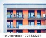 detail of complex of modern...   Shutterstock . vector #729533284