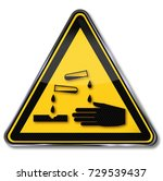 warning corrosive substances... | Shutterstock . vector #729539437