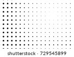 abstract monochrome halftone... | Shutterstock .eps vector #729545899