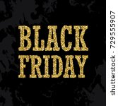 black friday sign made of... | Shutterstock .eps vector #729555907