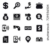16 vector icon set   dollar ... | Shutterstock .eps vector #729556504