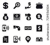 16 vector icon set   dollar ... | Shutterstock .eps vector #729556504