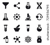 16 vector icon set   funnel ... | Shutterstock .eps vector #729556795