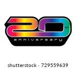 20 years anniversary  concept... | Shutterstock .eps vector #729559639