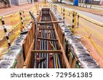 electricity cables installation ... | Shutterstock . vector #729561385