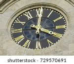 a huge clock face on the tower... | Shutterstock . vector #729570691