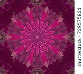 vector floral background. flat... | Shutterstock .eps vector #729575821