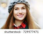 outdoor close up portrait of... | Shutterstock . vector #729577471