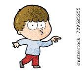cartoon curious boy   Shutterstock .eps vector #729585355