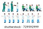 doctor and patient set | Shutterstock .eps vector #729592999