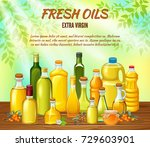 vegetable oil assorted bottles