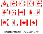 canadian flag font isolated on... | Shutterstock . vector #729604279