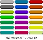 a lot of buttons. vector... | Shutterstock .eps vector #7296112
