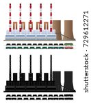coal electric power plant....   Shutterstock .eps vector #729612271