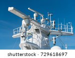 navigation and radar equipment... | Shutterstock . vector #729618697